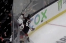 Caggiula exits game after boarding hit by Ducks' Rakell