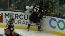 Rickard Rakell ejected for dangerous hit against boards on Drake Caggiula