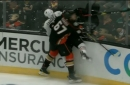 Caggiula suffers concussion after hit by Ducks' Rakell