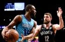 Huge second quarter spurs Hornets to victory over Nets, 123-112