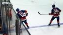 Josh Bailey, Brock Nelson get crossed up leading to Islanders own goal