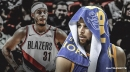 Warriors' Stephen Curry reacts to brother Seth Curry lighting it up for Blazers