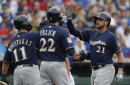 Hot corner homers power Brewers past Cubs, 7-4