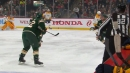 Minnesota's Fiala, Bitetto connect with cheeky stick-flip