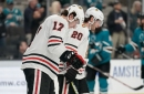 3 up, 3 down from Blackhawks' 5-2 loss to the Sharks