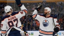 Oilers score 3 in second-period, rally to beat Sabres