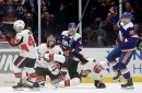 Isles give Trotz his 800th win with shootout victory over Senators