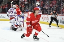 Athanasiou Leads Red Wings to 3-2 Shootout Win Over Rangers