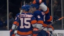 Islanders' Ryan Pulock tees up powerful point-blast to open scoring