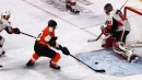 Flyers' Patrick forces turnover, Raffl chips goal past Anderson