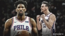 Sixers' T.J. McConnell totally loses it after Joel Embiid's epic putback dunk