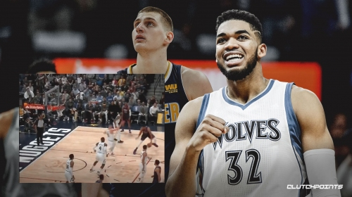 Video: Timberwolves' Karl-Anthony Towns drains step-back jumper after crossover on Nuggets' Nikola Jokic