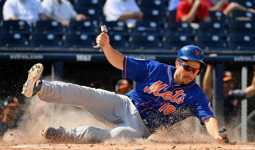 Travis d'Arnaud catches five innings in spring game, expects to be ready for Mets opener