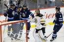 Scheifele has 3 points as Jets hand Bruins 3rd straight loss