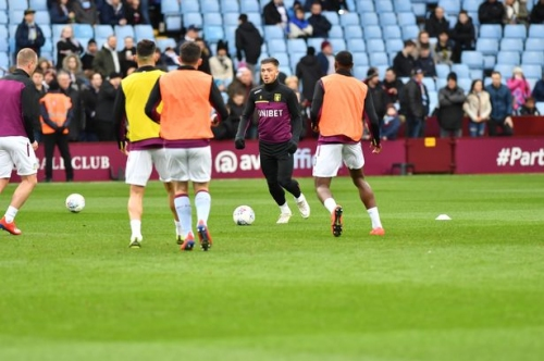 Jack Grealish takes to the field for the first time since the Second City derby