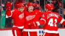 Andreas Athanasiou scores twice as Red Wings edge Islanders