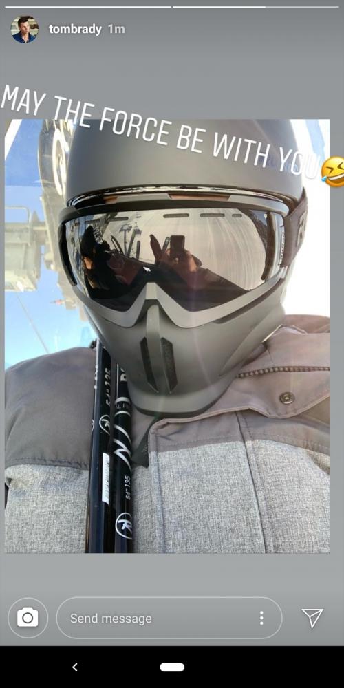 Tom Brady Checks In From Family Sky Trip With Star Wars-Themed Instagram
