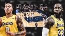 Video: Lakers' LeBron James, Kyle Kuzma make nasty no-look passes vs. Knicks