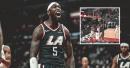Video: Clippers' Montrezl Harrell muscles his way for monster slam over Jarrett Allen