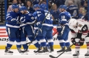 Never in doubt, Lightning capture Presidents' Trophy with win over Coyotes