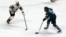 Joe Thornton scores ridiculous no-look shot from way out on Malcolm Subban
