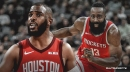 Rockets' Chris Paul reacts to James Harden scoring 30 on all teams