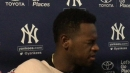 Yankees' Luis Severino speaks following the resumption of his throwing program