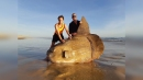 Rare giant sunfish weighing more than car washes up on Australia beach