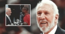 Video: Spurs' Gregg Popovich shares moment with Heat's Dwyane Wade before last game in San Antonio