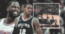 Video: Heat star Dwyane Wade makes LaMarcus Aldridge spin, drops left-handed bank shot