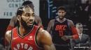 Video: Raptors' Kawhi Leonard smirks at Thunder's Paul George's post-up D before drilling turnaround jumper