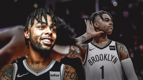 D'Angelo Russell 1st player in Nets history with 76+ points, 22+ assists in a 2-game stretch