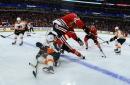 Hawks waste golden opportunity in 3-1 loss to Flyers