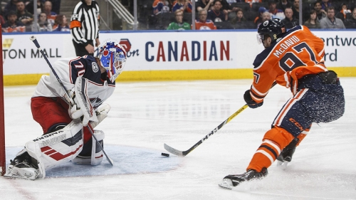 McDavid's two points lead Oilers past Blue Jackets