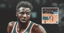 Video: Knicks' Mitchell Robinson blocks, steals and dunks in one play
