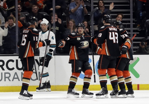 Jakob Silfverberg, Ducks work overtime to defeat Sharks