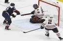 Minus two all-stars, Avs defeat Blackhawks to climb back into playoff spot