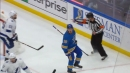 Blues erupt for three goals in 75 seconds against Lightning