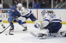 Lightning can't come back against the Blues