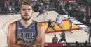Mavs' Luka Doncic shakes off and drops James Johnson then converts the easy bucket