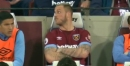 Marko Arnautovic snaps at West Ham fans as he's booed during Everton defeat