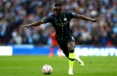 Benjamin Mendy reacts to his Man City return in FA Cup semi-final victory against Brighton