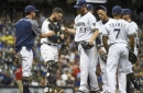 Brewers fall back to Earth, lose 4-2 to get swept by Trout-less Angels