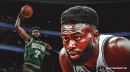 Jaylen Brown discusses how his back is feeling entering playoffs