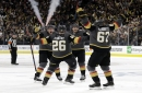 Golden Knights Top Sharks – Stone Nets Hat Trick