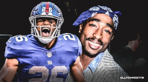 Giants RB Saquon Barkley says he was almost named Tupac Makaveli