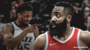 Rockets' James Harden wary of more aggressive Donovan Mitchell in Game 2