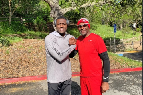 A.J. Brown trained with the GOAT