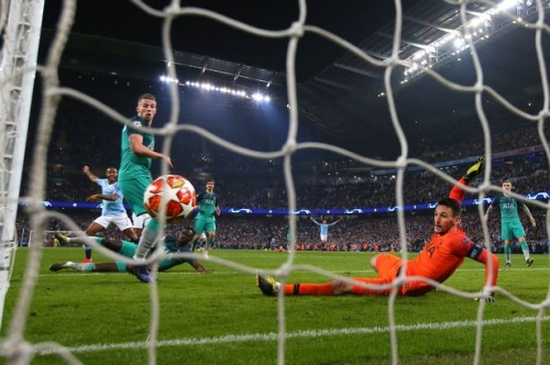 Man City fans react to VAR decision in Champions League defeat to Tottenham Hotspur