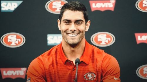 San Francisco QB Jimmy Garoppolo says recovery gets easier by the day